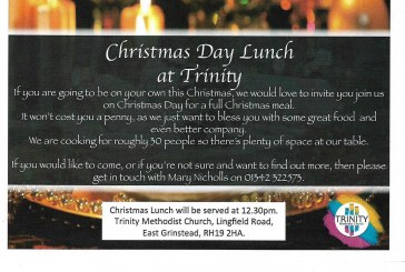Christmas Day Lunch at Trinity Methodist Church