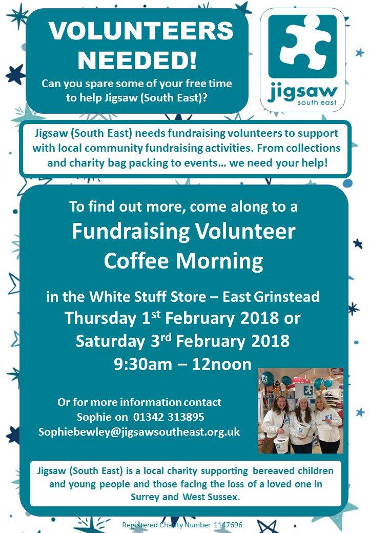 Volunteers needed for Jigsaw