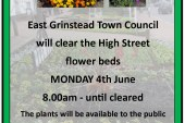 Town Council News: High Street Flower Bed Clearance