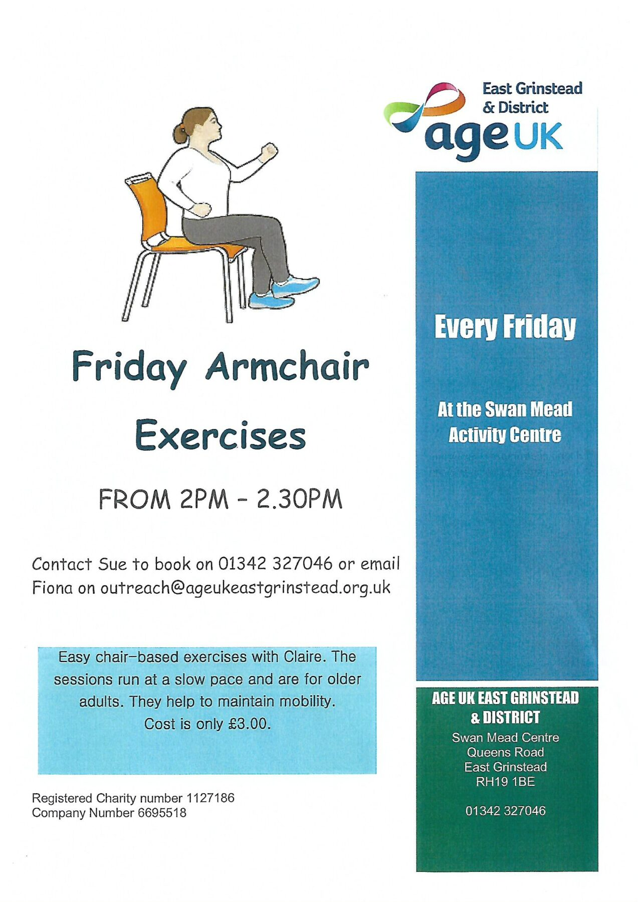 Friday Armchair Exercises with Age UK