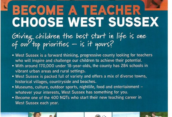 Become a Teacher in West Sussex
