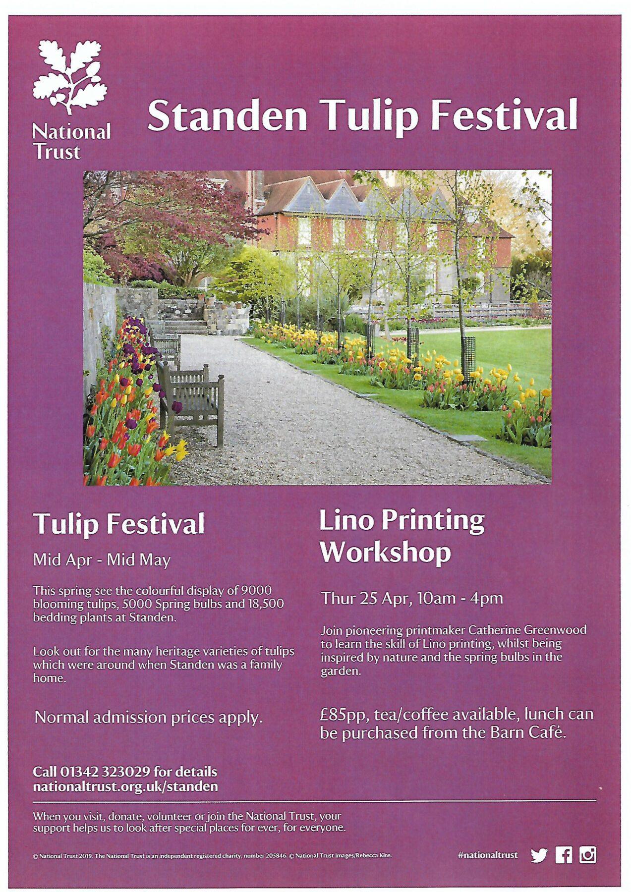 Tulip festival at Standen