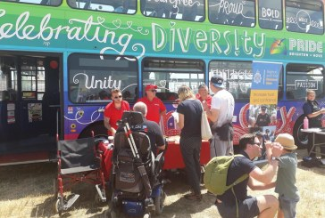 Free travel by bus  to Disability Pride this Sunday
