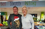 Newsreader Nicolas Owen Gives Helping Hand To Crawley Charity On Christmas Eve