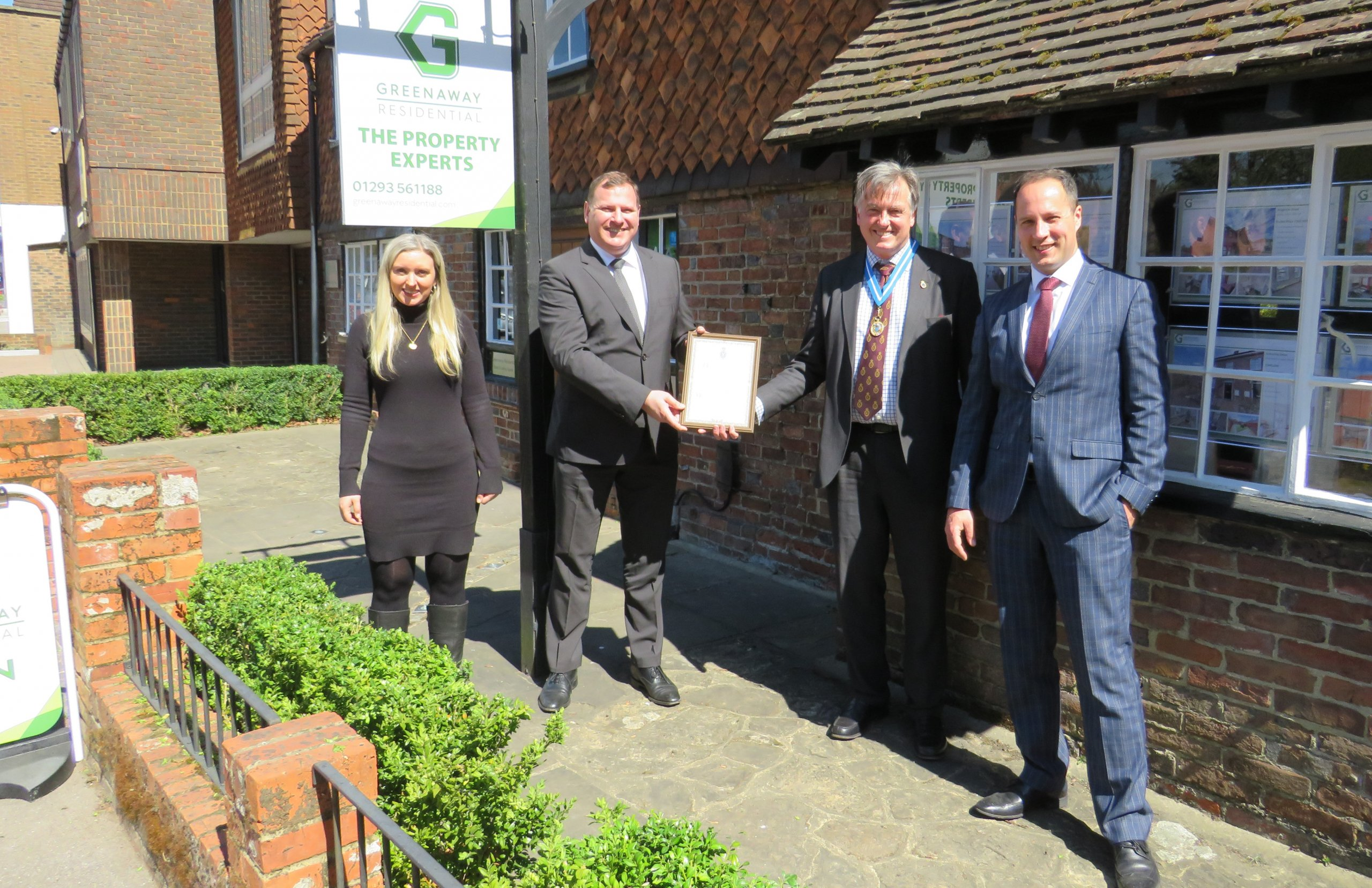 The Greenaway Foundation receives a High Sheriff Award for services to the Community
