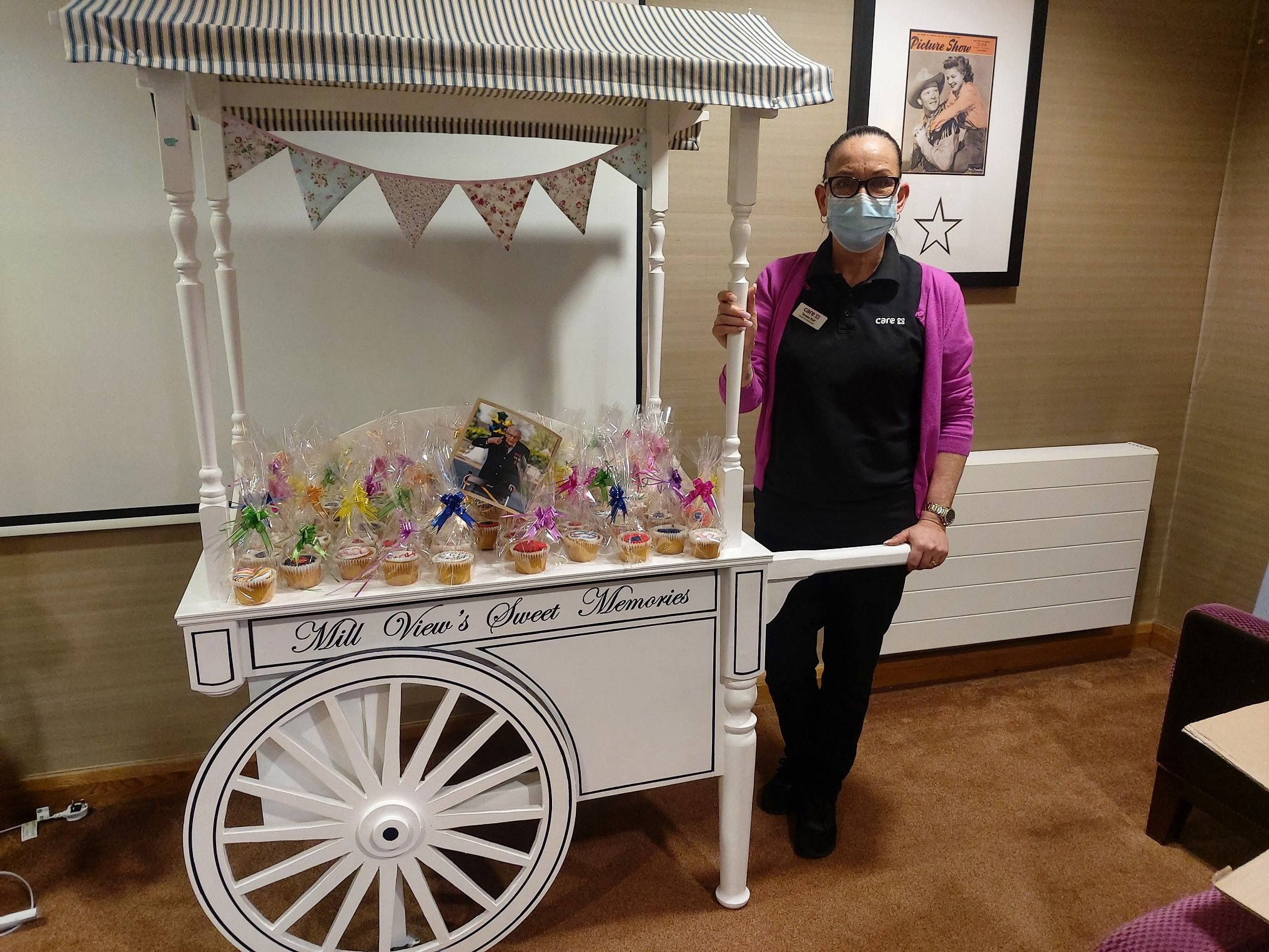 Mill View Care Home Celebrates Captain Tom's Challenge